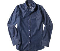 Hemd, Modern Fit, Chambray, denim