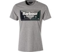 T-Shirt, Baumwolle, mittelgrau meliert