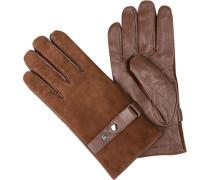 Handschuhe, Lamm-Ziegenleder, kaffeebraun