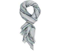 Schal, Baumwolle, -grün gestreift