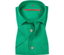 Hemd, Classic Fit, Leinen, grasgrün