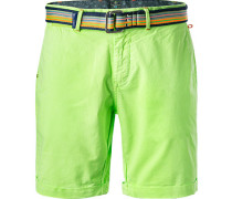 Hose Shorts, Baumwolle, leuchtgrün