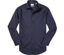 Hemd, Modern Fit, Twill, dunkelblau