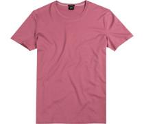 T-Shirt, Regular Fit, Baumwolle, altrosa