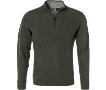 Pullover Troyer, Lammwolle, jägergrün