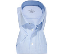 Hemd, Regular Fit, Baumwolle, bleu