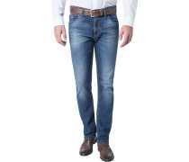 Jeans, Modern Fit, Baumwoll-Stretch