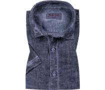 Hemd, Modern Fit, Leinen, meliert