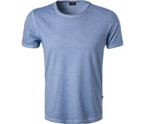 T-Shirt, Baumwolle, himmelblau meliert