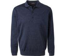Polo-Shirt Polo, Merinowolle, dunkelblau