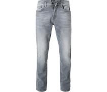 Blue-Jeans, Regular Fit, Baumwoll-Stretch