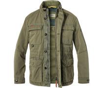 Fieldjacket, Baumwolle, olivgrün