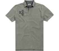Polo-Shirt, Baumwolle, graugrün