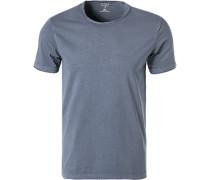 T-Shirt, Body Fit, Baumwolle, indigo
