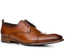 Schuhe Derby, Kalbsleder, cognac