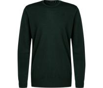 Pullover, Merinowolle, dunkelgrün