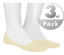 Socken Füßlinge, Baumwolle, nude