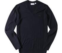 Pullover, Schurwolle waschbar, marine