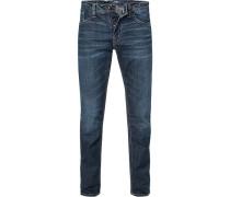 Jeans, Baumwoll-Stretch, mittelblau