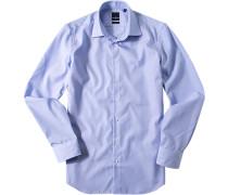 Hemd, Popeline, hellblau gestreift