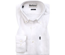 Hemd, Tailored Fit, Leinen, wollweiß
