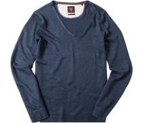 Pullover Pulli, Leinen, marineblau meliert