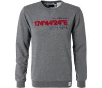 Pullover Sweater, Baumwolle, meliert