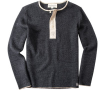 Pullover, Wolle, anthrazit meliert