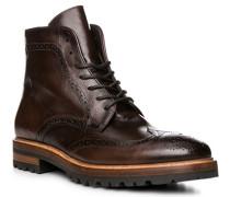 Schuhe Stiefeletten, Leder, cacao