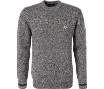 Pullover, Wolle, -weiß meliert