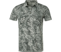 Poloshirt, Baumwoll-Jersey, gemustert
