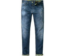Jeans, Regular Fit, Baumwoll-Stretch