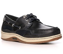 Bootsschuhe, Leder, navy