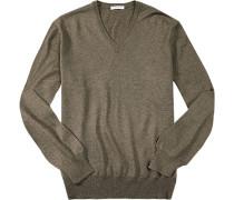 Pullover, Merinowolle, taupe