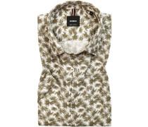 Hemd, Baumwolle-Leinen, gemustert