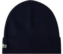 Mütze, Wolle, marineblau