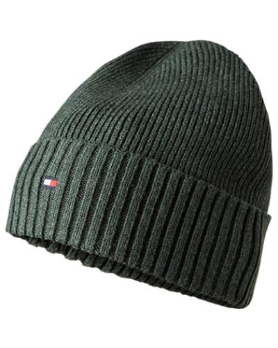 Mütze, Baumwolle-Kaschmir, dunkelgrün