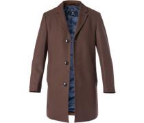 Mantel, Wolle, haselnussbraun