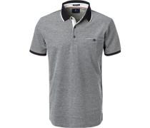 Polo-Shirt Polo, Baumwoll-Pique, marineblau