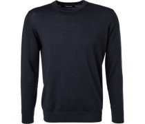 Pullover, Merino-Schurwolle, dunkelblau
