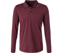 Polo-Shirt Polo, Baumwoll-Jersey, dunkelrot