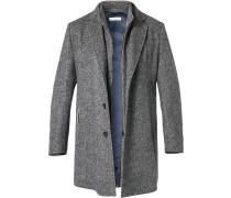 Mantel, Wolle-Kaschmir, dunkelblau