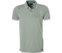 Polo-Shirt Polo, Baumwoll-Jersey, grau-