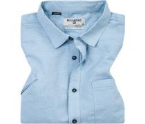Hemd, Core Fit, Baumwolle, hellblau meliert