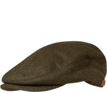 Schiebermütze, Wolle, moosgrün