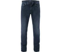 Jeans, Modern Fit, Baumwolle, dunkelblau