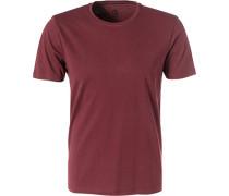 T-Shirt, Baumwolle, bordeaux