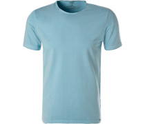 T-Shirt, Body Fit, Baumwolle, hellblau