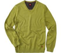Pullover, Baumwolle-Wolle, kiwigrün