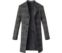 Mantel, Wolle, nachtblau-weiß meliert